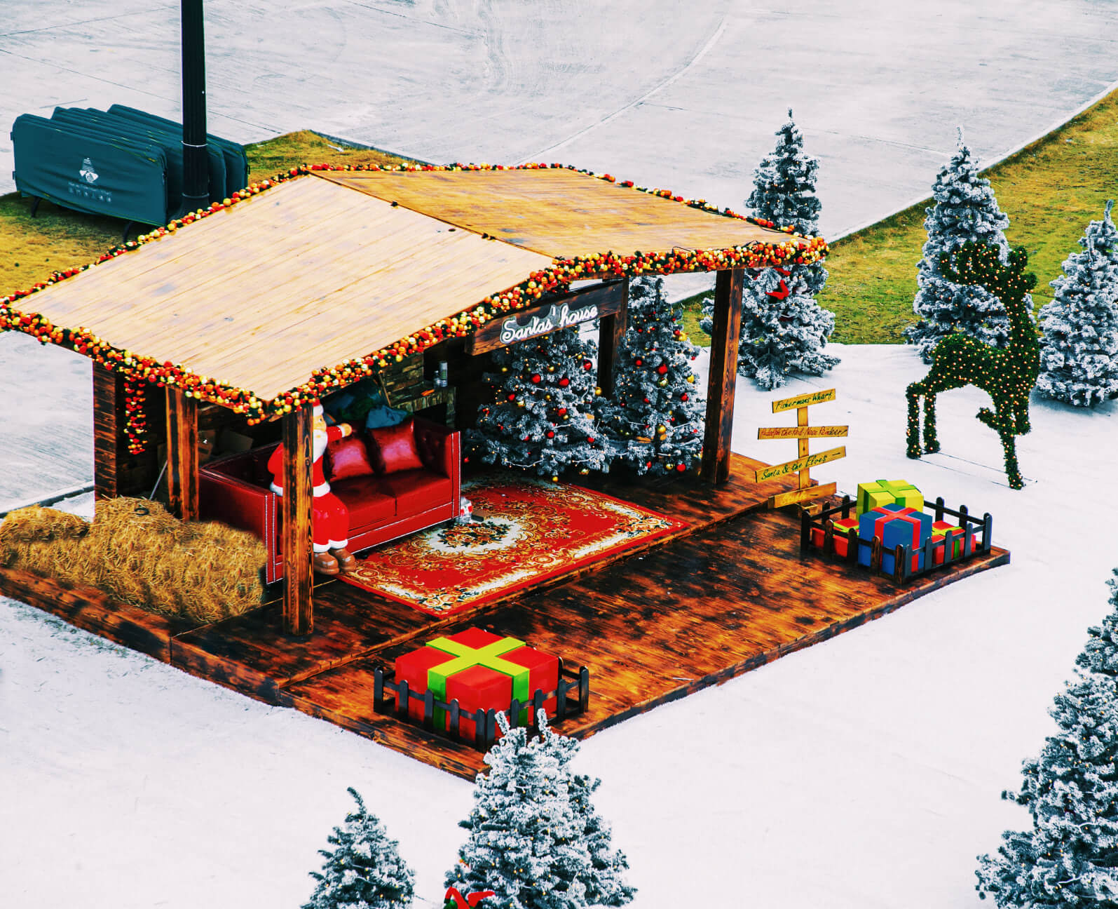 Wooden Christmas Booth
